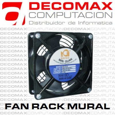 COOLER FAN PARA RACK MURAL 4PUL RULEMAN 220V 120MM