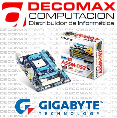 MOTHERBOARD GIGABYTE GA-A55M-DS2 DDR3 PCIE FM1 BOX