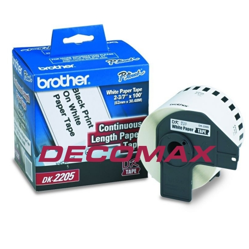 CINTA CONTINUA BROTHER DK2205 62MM 30M TERMICA BOX