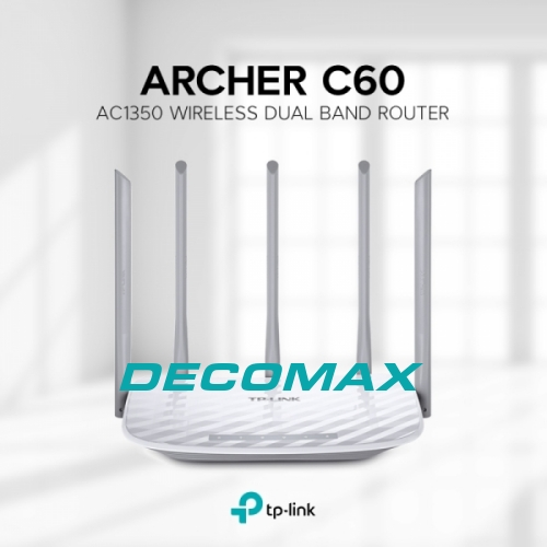 ROUTER WIFI TP-LINK ARCHER C60 AC1350 DUALBAN 5ANT